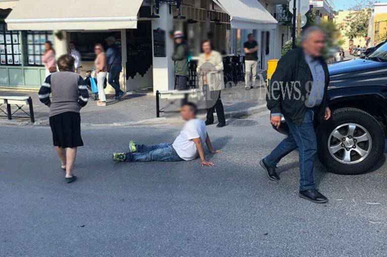 Κρήτη: Ξάπλωσε στη μέση του δρόμου και… ζητούσε να τον διορίσουν! [pics]