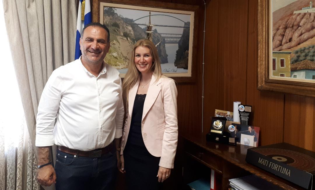 Το Επιμελητηρίου Κορινθίας επισκέφθηκε η υποψήφια βουλευτής του νομού Κορινθίας της Ν.Δ, κα Μαρία Παπακωνσταντίνου