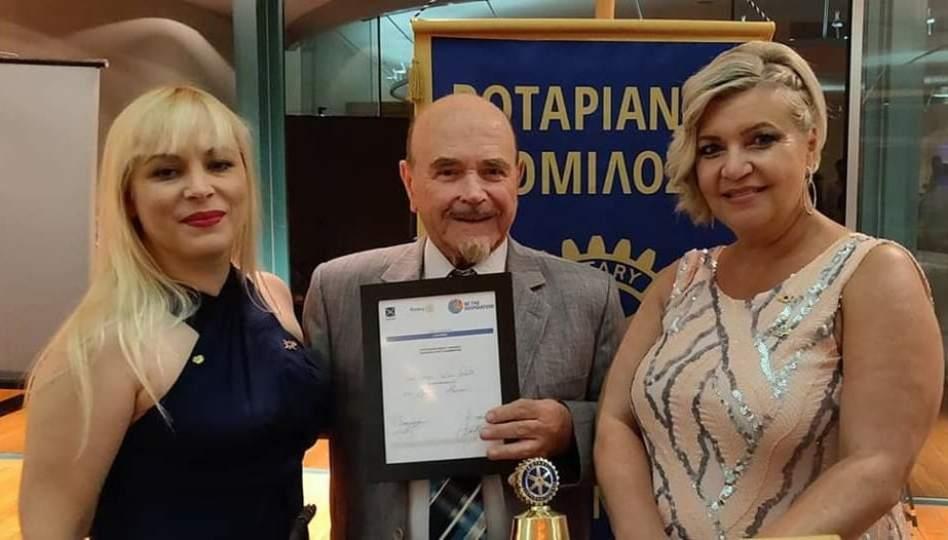 Ο Ροταριανός Όμιλος Κόρινθος τίμησε το μουσικό Νίκο Ξανθό