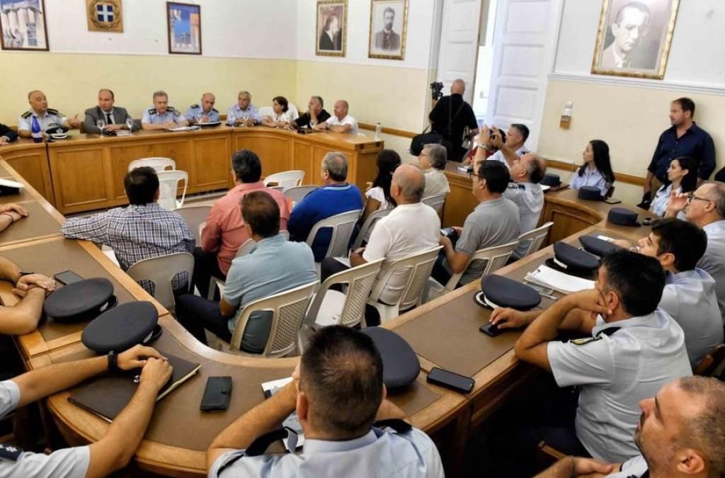 Πραγματοποιήθηκε διευρυμένη σύσκεψη με θέμα την αντεγκληματική πολιτική στην Π.Ε Κορινθίας