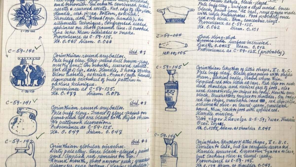 Σελίδες από τα ημερολόγια των Αμερικανών αρχαιολόγων που έσκαψαν στην Κόρινθο