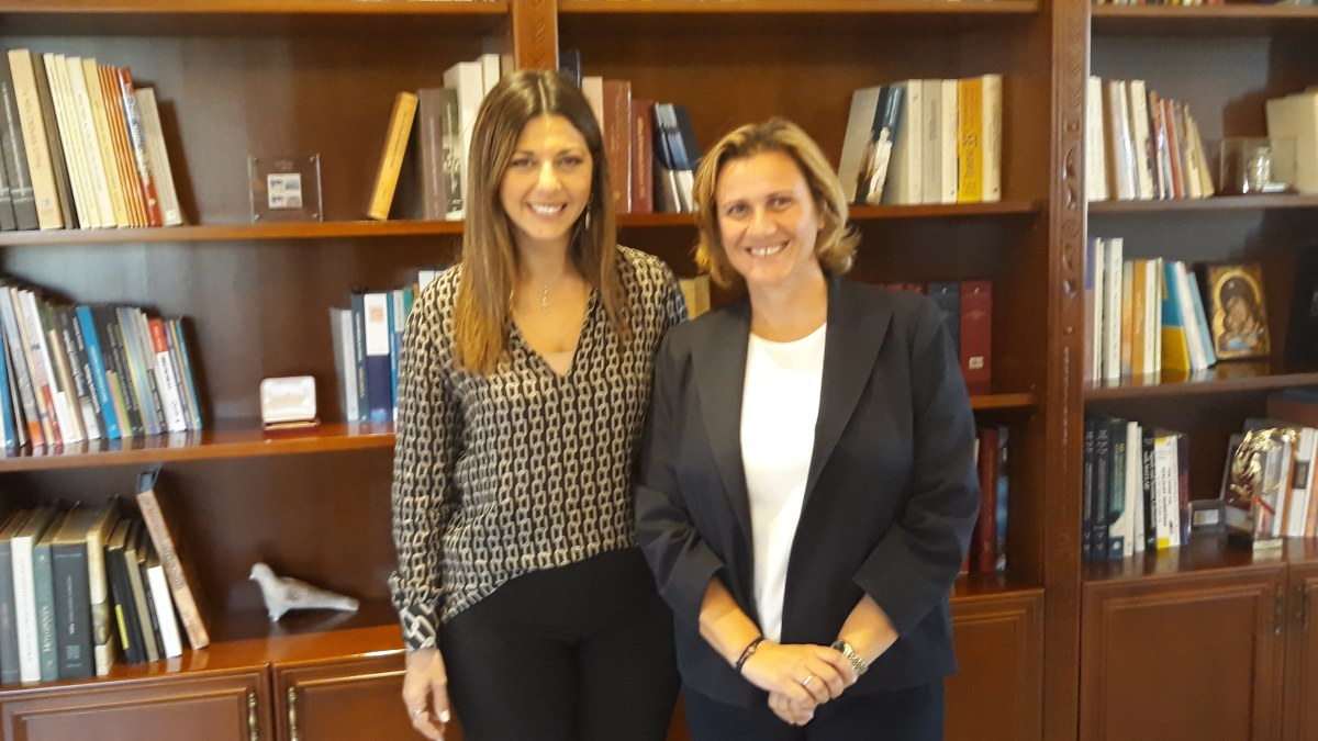 Συνάντηση της Βουλευτή Κορινθίας κυρίας Μαριλένας Σούκουλη Βιλιάλη με την Υφυπουργό Παιδείας, Έρευνας και Θρησκευμάτων, αρμόδια για θέματα Πρωτοβάθμιας και Δευτεροβάθμιας εκπαίδευσης και Ειδικής Αγωγής, κυρία Σοφία Ζαχαράκη