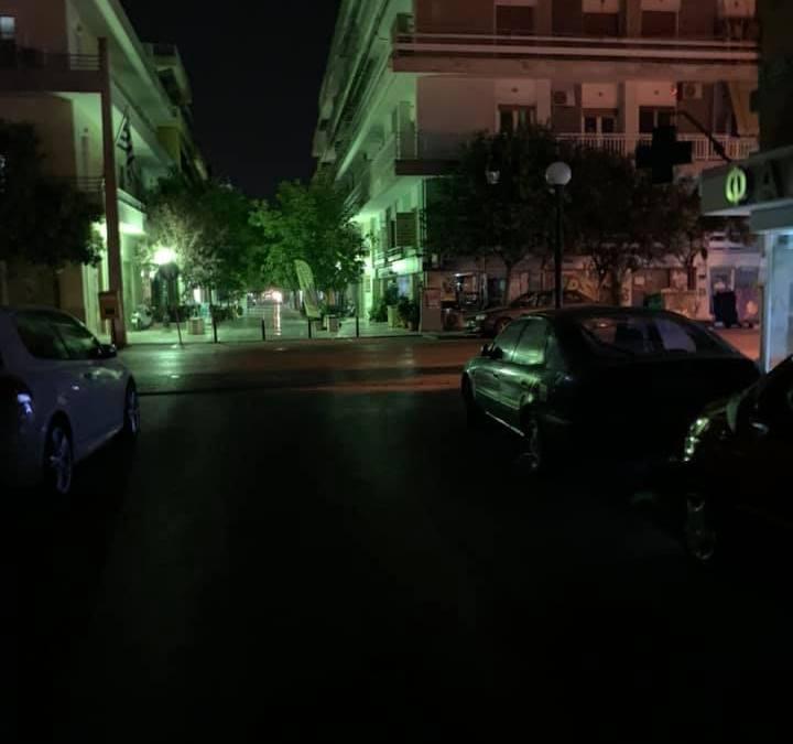 Παρέμβαση αναγνώστη για το δημοτικό φωτισμό στην Κορινθο