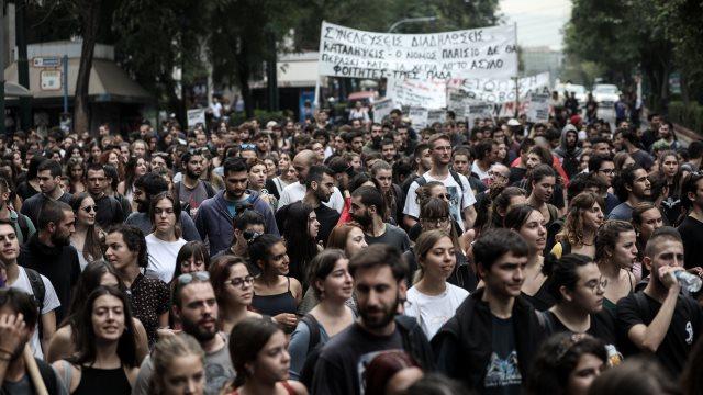 Επέτειος Πολυτεχνείου: Με φόντο τις καταλήψεις το σημερινό φοιτητικό συλλαλητήριο στα Προπύλαια