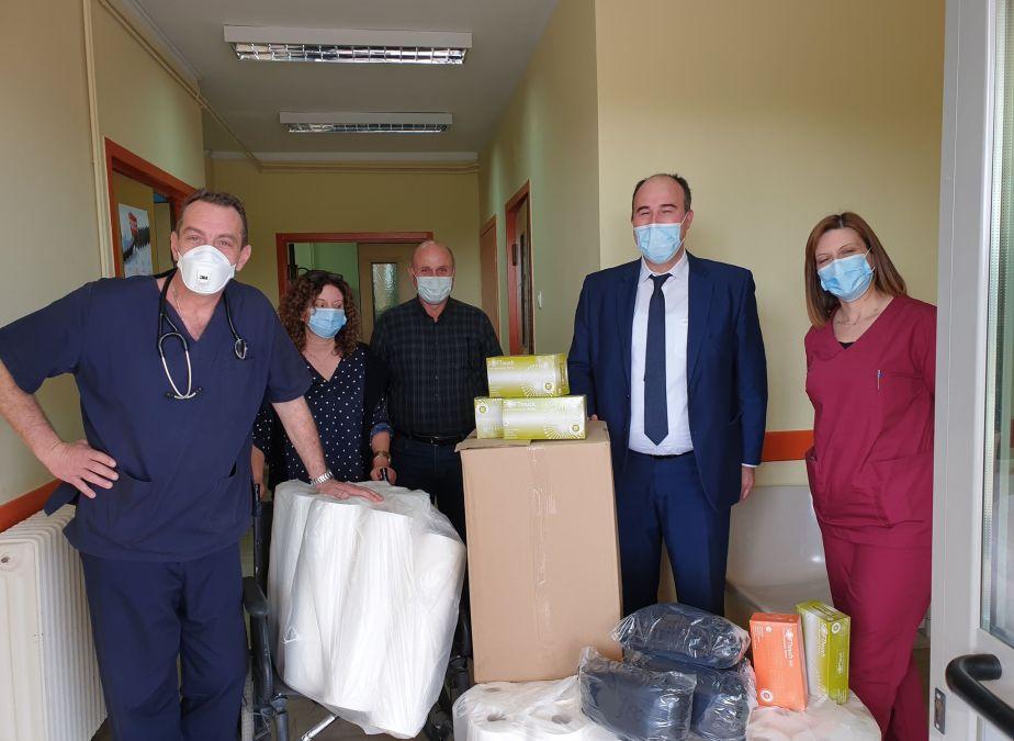 Υγειονομικο υλικο στο Κ.Υ Ευρωστίνης από την Π.Ε Κορινθίας