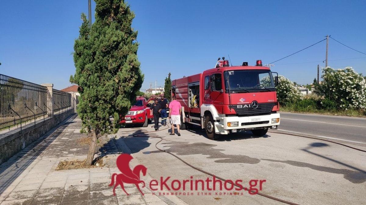 Ακόμα μία πολύ γρήγορη επέμβαση της πυροσβεστικής υπηρεσίας Κορίνθου
