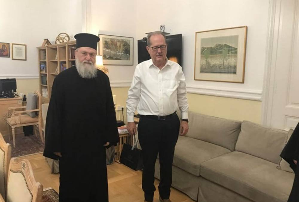 Συνάντηση του περιφερειάρχη Π. Νίκα με τον μητροπολίτη Κορίνθου Διονύσιο