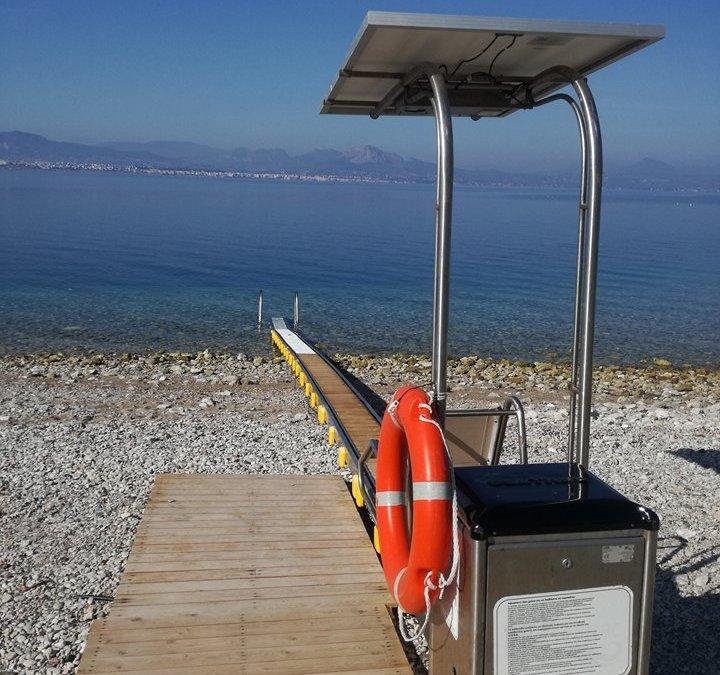 Ράμπα ΑμΕΑ: Πρόσβαση στη θάλασσα για όλους για πέμπτη συνεχόμενη χρονιά