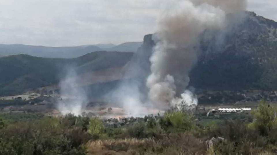 Και άλλες φωτογραφίες από τη φωτιά στις Κεχριες
