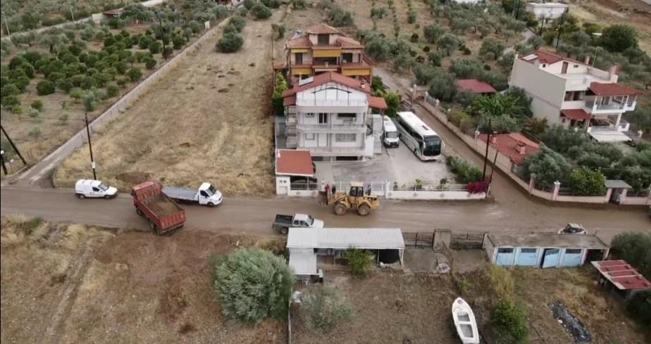 Δείτε από Drone τη ζημιά στα Λουτρά Ωραίας Ελένης από τον Ιανο