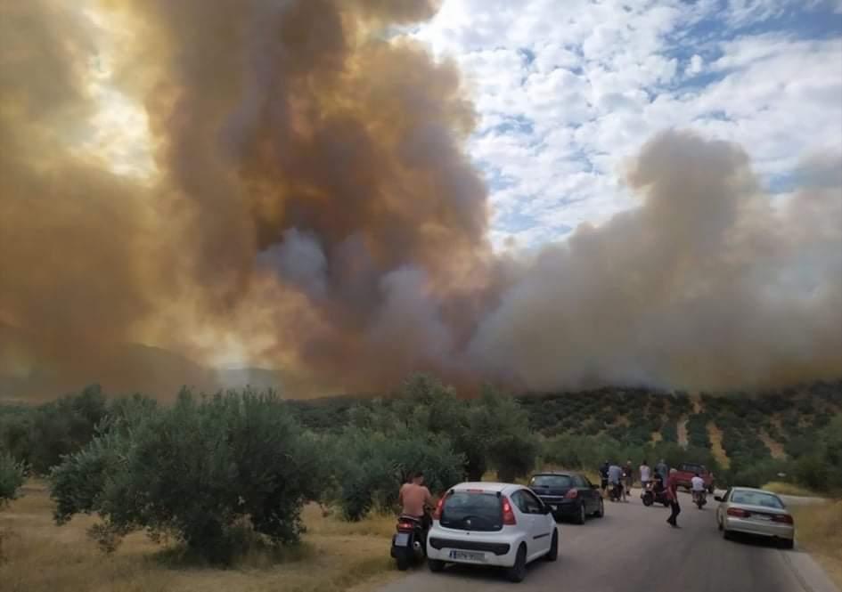 Τώρα μεγάλη πυρκαγιά πάνω από την περιοχή Κουταλα