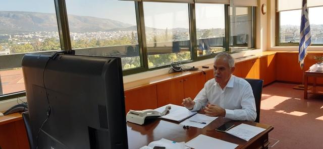 Συμμετοχή Νίκου Ταγαρά σε τηλεδιάσκεψη για την Κορινθιακή Σταφίδα