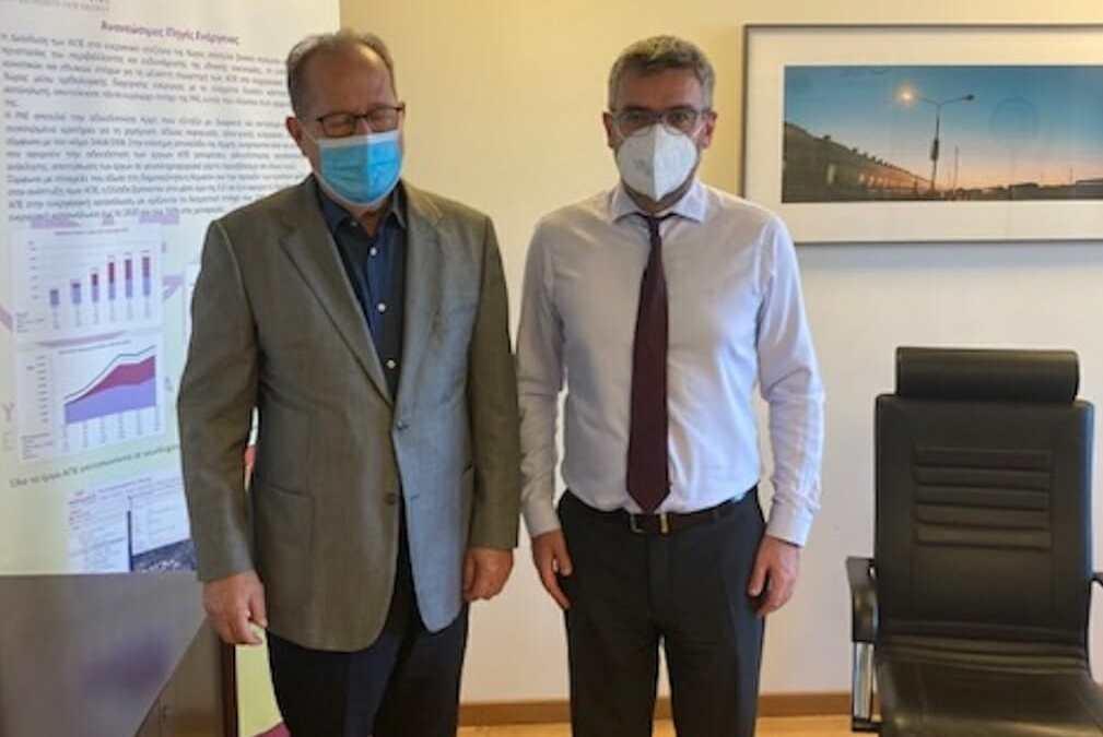 Συνάντηση του περιφερειάρχη Π. Νίκα με τον νέο πρόεδρο της ΡΑΕ σχετικά με το θέμα του φυσικού αερίου