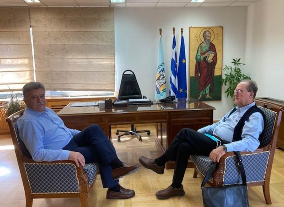 Συνάντηση του περιφερειάρχη Π. Νίκα στην Κόρινθο με τον δήμαρχο Β. Νανόπουλο