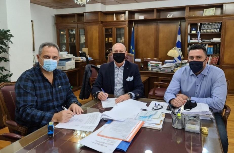 Υπογραφή σύμβασης για την Ανάπλαση του Μνημείου της «Μάχης της Περαχώρας»