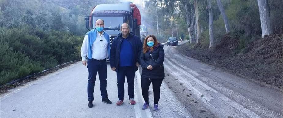 Ασφαλτόστρωση στην αεπαρχιακη οδό Ξυλόκαστρο-Τρίκαλα