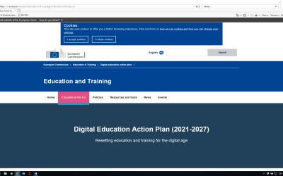 Akcijski načrt za digitalno izobraževanje za obdobje 2021-2027 sprejet