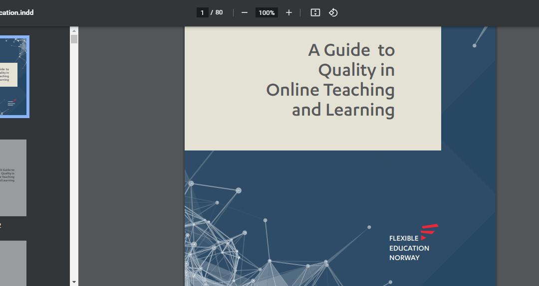 Priročnik o kvaliteti online poučevanja in učenja