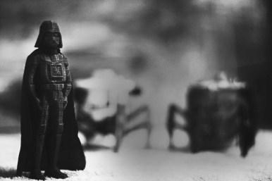 Darth Vader looking for Luke Skywalker