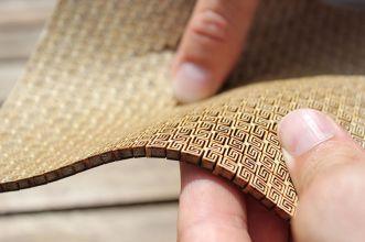 Lasercut flexible double curvature wood surface