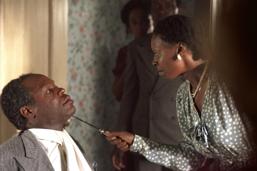1985: Whoopi Goldberg and Danny Glover in a scene from The Color Purple.