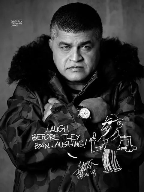 Zunar was featured in August Man Malaysia, August 2015. Image credit: August Man Malaysia.