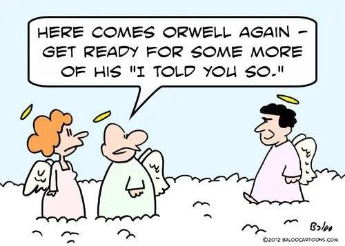 George Orwell in Heaven