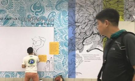 Live doodle in Masjid Jamek | Sanuri Zulkefli