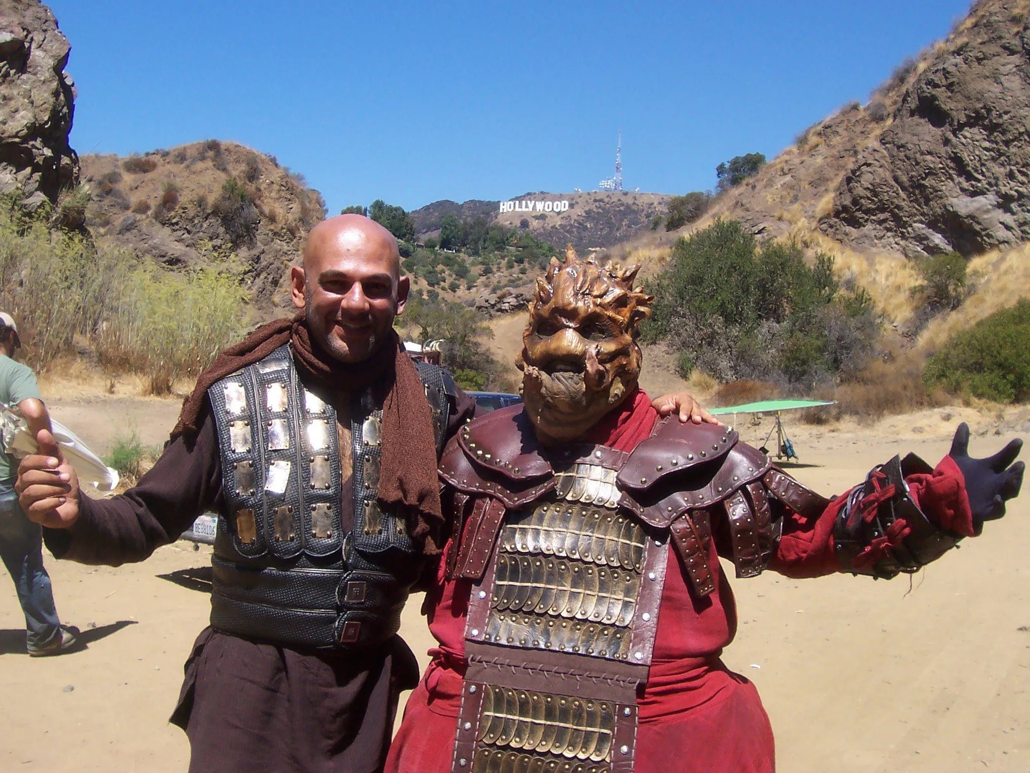 On location in Griffith Park Hollywood for Princess of Mars