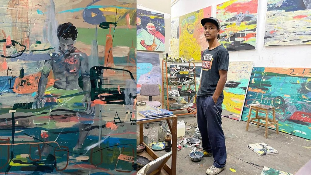 Isa Ishak Paints 16 Artworks Celebrating The Switch From Blue-Collar Work To Art