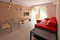 na zdjęciu salon w apartamencie do wynajęcia w Śródmieściu Szczecina