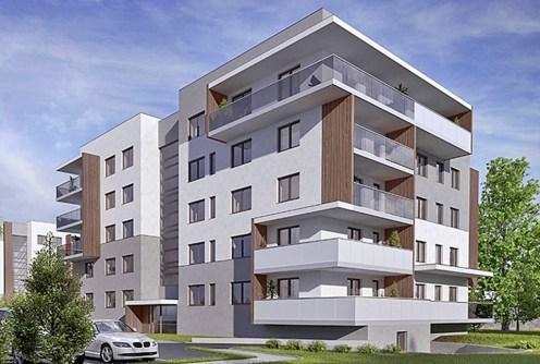 na zdjęciu widok na apartamentowiec w Inowrocławiu, w którym znajduje się oferowany apartament na sprzedaż