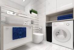 zdjęcie prezentuje komfortowo urządzoną łazienkę w apartamencie w Katowicach do wynajmu