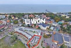 widok z lotu ptaka na osiedle, na którym znajduje się oferowany apartament na sprzedaż