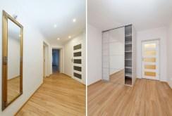 dwa fragmenty (przedpokój, szafa) luksusowego apartamentu w Tarnowie do wynajmu