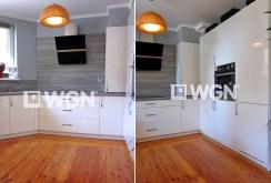 zdjęcie przedstawia komfortowo urządzona kuchnię w apartamencie w Legnicy do sprzedaży