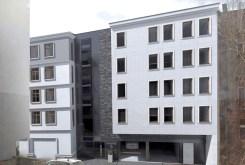 zdjęcie pokazuje aktualny stan prac budowlanych w apartamentowcu w Sosnowcu, gdzie mieści się oferowany apartament na sprzedaż