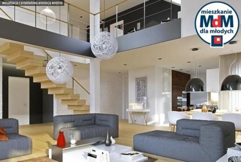 zdjęcie przedstawia przykładową wizualizację aranżacji wnętrza luksusowego apartamentu do sprzedaży w Legnicy