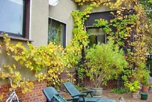 widok od strony tarasu na dom we Wrocławiu do sprzedaży