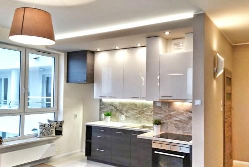 na zdjęciu luksusowe i nowoczesne wnętrze apartamentu na sprzedaż w Białymstoku