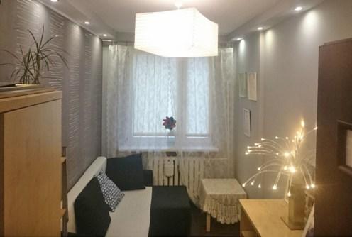 zdjęcie przedstawia salon w apartamencie do sprzedaży w Katowicach