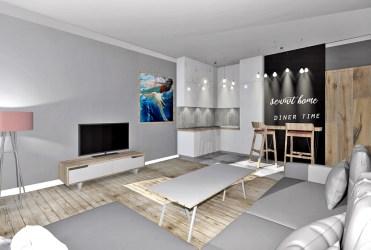 nowoczesne, luksusowe wnętrze na wizualizacji apartamentu do sprzedaży w Szczecinie