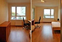 widok na jedn z luksusowo wyposażonych pokoi w apartamencie na wynajem w Szczecinie