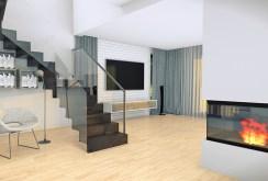 widok z innej perspektywy na salon w ekskluzywnej willi do sprzedaży we Wrocławiu