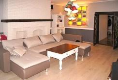 na zdjęciu fragment salonu i aneks kuchenny w apartamencie do wynajmu w Inowrocławiu