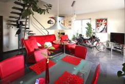 komfortowo urządzony salon w apartamencie na wynajem w Szczecinie