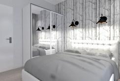 elegancka, przytulna sypialnia w luksusowym apartamencie w Katowicach na wynajem