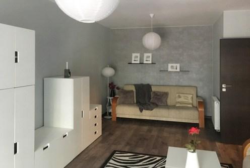 nowoczesny i stylowy salon w ekskluzywnym apartamencie do wynajęcia w Szczecinie