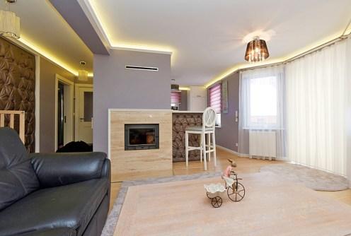 nowoczesny salon w luksusowej willi do sprzedaży w Tarnowie