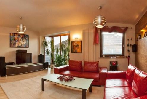 ekskluzywny salon w lukssuowym apartamencie do sprzedaży w Krakowie